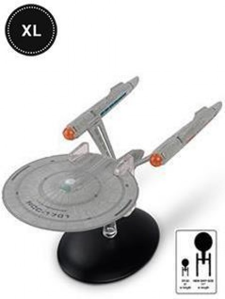 U.S.S Enterprise NCC-1701 Star Trek (Discovery) starship model with Englisch magazine Eaglemoss XXL #11