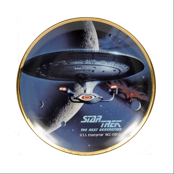 Decorative plate U.S.S. Enterprise NCC-1701-D