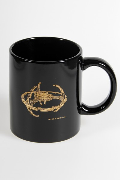 gold plated mug - Deep Space 9 - Station Filmwelt Berlin Star Trek