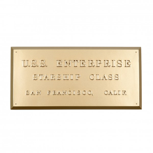 U.S.S. Enterprise NCC-1701 - Dedication Plaque