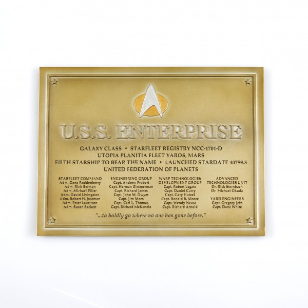 U.S.S. Enterprise NCC-1701-D - Dedication Plaque Star Trek