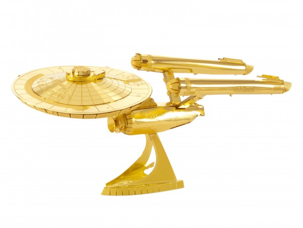 Star Trek metal kit U.S.S Enterprise NCC-1701 gold 50 years limited special edition