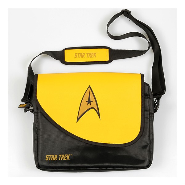 Shoulder bag gold Messenger Bag for Notebooks Star Trek