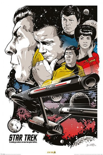 "Poster Boldly Go ""Star Trek 50th Anniversary"" - 50th Anniversary Star Trek"