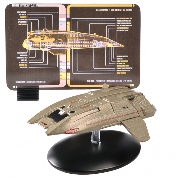 Argo shuttle (U.S.S. Enterprise Ncc-1701-E) - Star Trek model with english magazine