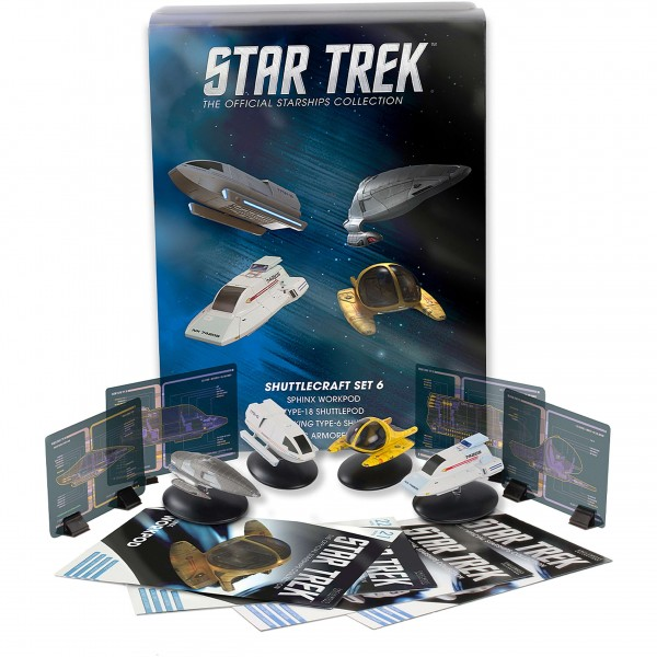 Shuttlecraft Set 6 (Sphinx Workpod, Hawking Type-6 Shuttle, Janeway's Armored Shuttle, Type-18 Shuttlepod) - Star Trek Starships