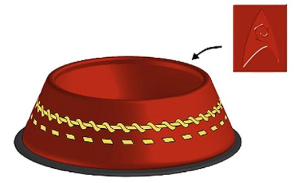 "Dog bowl ""Redshirt"" Star Trek"
