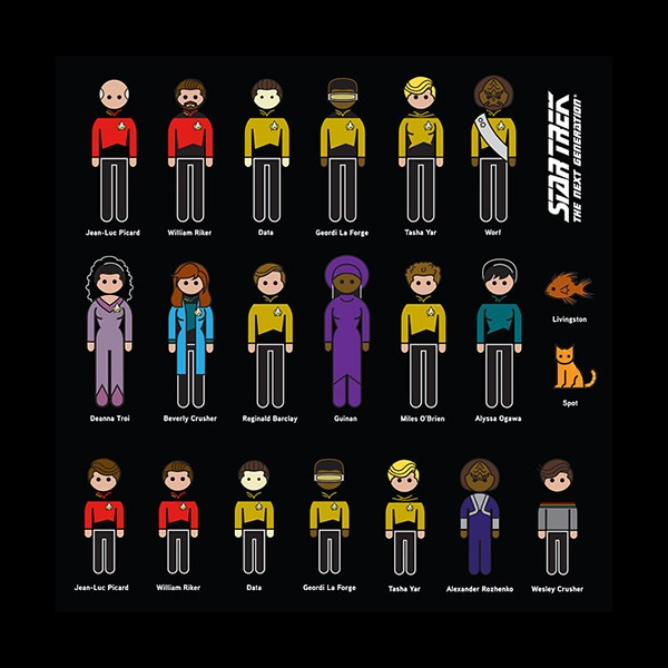 Family Car Decals Star Trek The Next Generation Characters