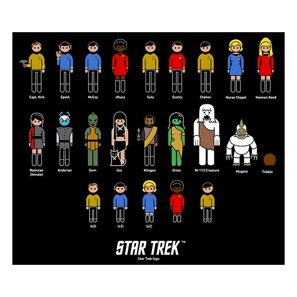 Family Car Decals Star Trek Characters