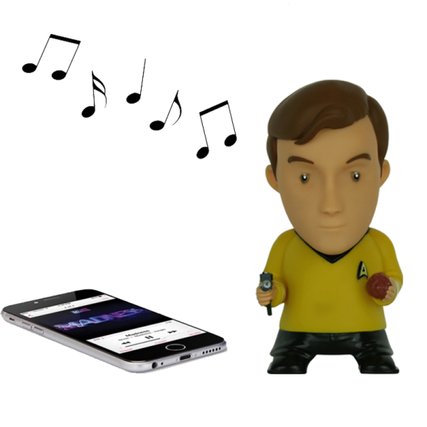 Bluetooth Speaker Captain Kirk Star Trek