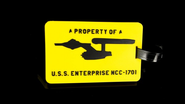 "Luggage Tag ""A Property of U.S.S. Enterprise NCC-1701"" Star Trek"