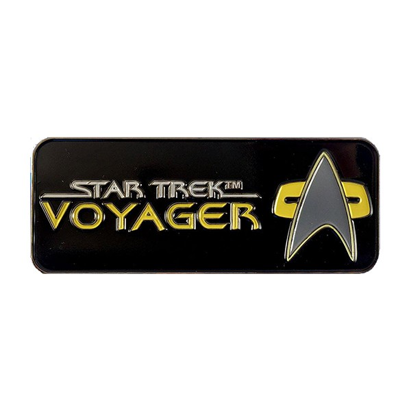 Voyager Logo Pin Star Trek official Collectors Edition
