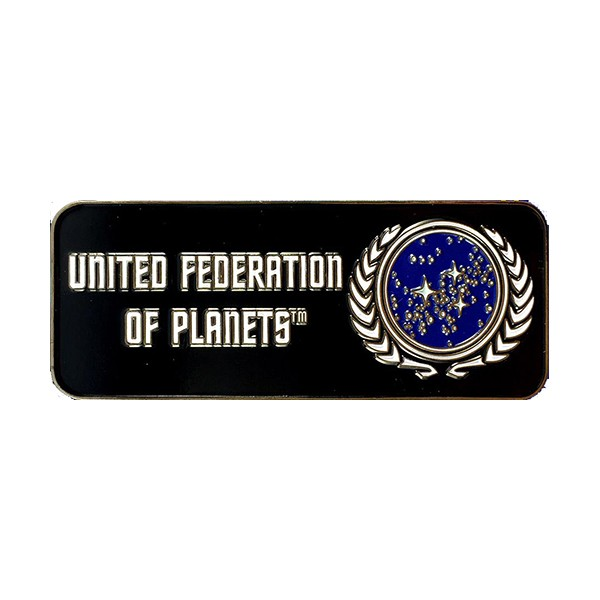 United Federation of Planets Logo Collectors Pin Star Trek official Collectors Edition