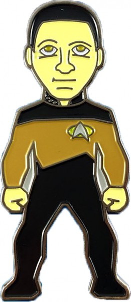 Lieutenant Commander Data Collectors Pin Star Trek official Collectors Edition