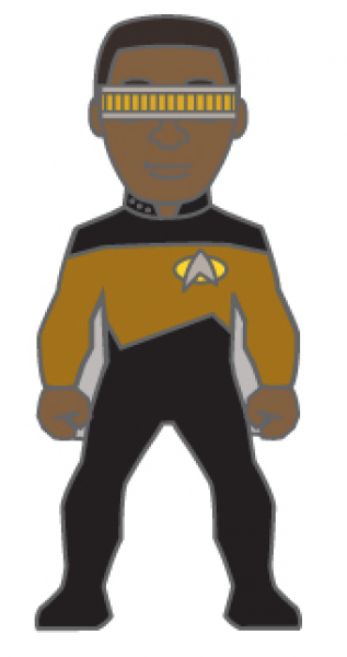Lieutenant Commander Geordi La Forge Sammler Pin Star Trek official Collectors Edition