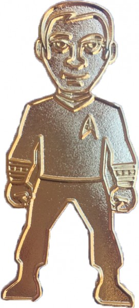 Captain Kirk gold Collectors Pin Star Trek official Collectors Edition