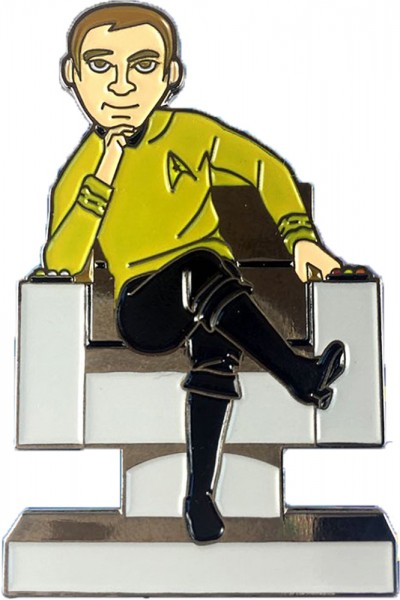 Kirk in Captain Chair Collectors Pin Star Trek official Collectors Edition