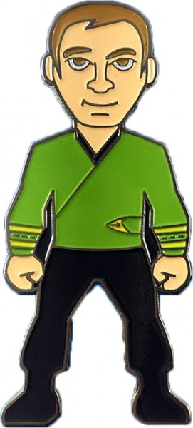 Captain Kirk green Wrap Uniform Collectors Pin Star Trek official Collectors Edition