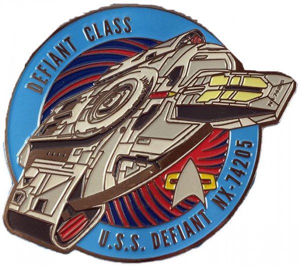 U.S.S. Defiant NX-74205 Sammler Pin Star Trek official Collectors Edition