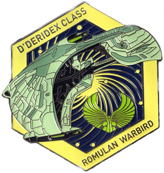 Romulan Warbird D´Deridex Class Collectors Pin Star Trek official Collectors Edition