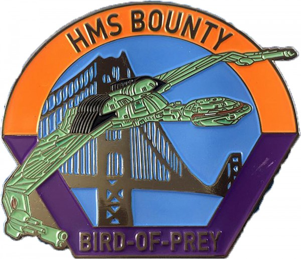 HMS Bounty Bird-of-Prey Collectors Pin Star Trek official Collectors Edition
