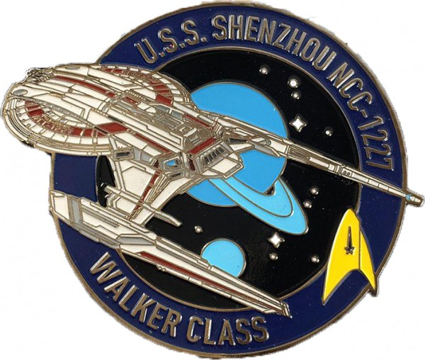 U.S.S. Shenzhou NCC-1227 Pin Star Trek Discovery official Collectors Edition