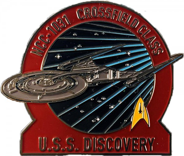 U.S.S. Discovery NCC-1031 Crossfield Class Pin Star Trek Discovery official Collectors Edition