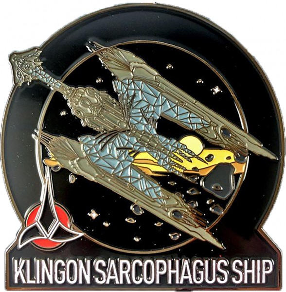 Klingon Sarcophagus Ship Pin Star Trek Discovery official Collectors Edition