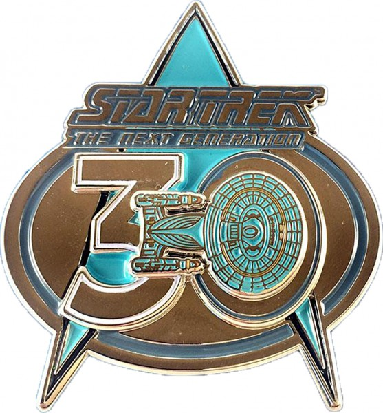 30 years Anniversary The Next Generation Collectors Pin Star Trek official Collectors Edition magnetic
