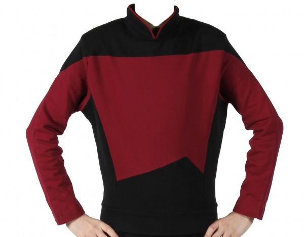 Next Generation Uniform Shirt - Red Captain - super deluxe Cotton - Star Trek