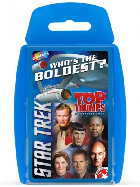 Top Trumps playing cards Star Trek WHO´S THWE BOLDEST?