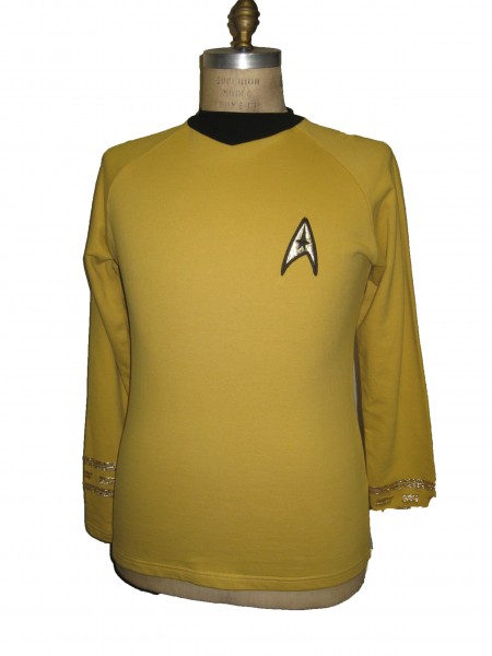 Uniform Shirt - Command Gold - Super deluxe Cotton - Star Trek TOS Classic