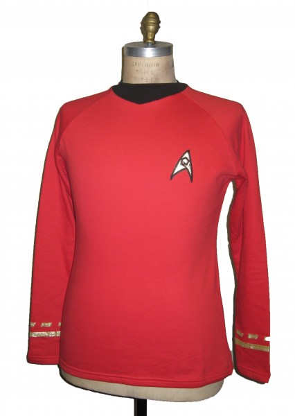 Uniform Shirt - Operations Red - Super deluxe Cotton - Star Trek TOS Classic