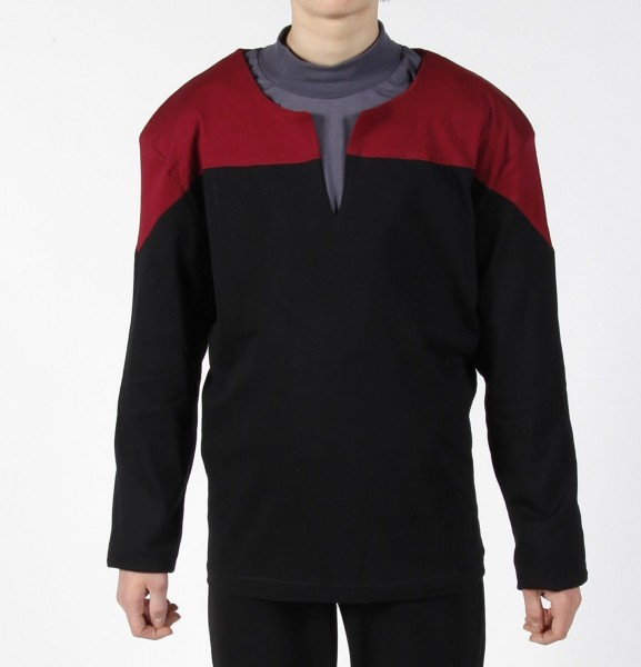 Voyager Uniform Shirt - Command Red L - Cotton - Star Trek