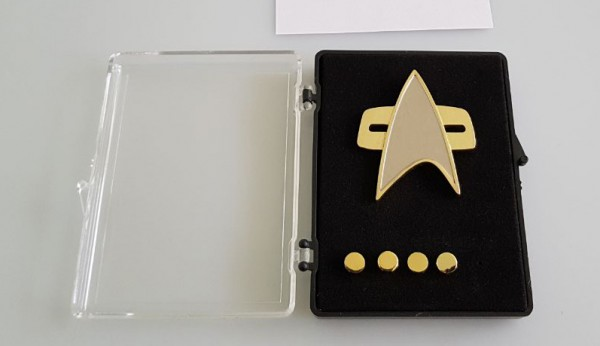 Communicator + Rankpin Set Captain - Voyager 5 pieces - Star Trek