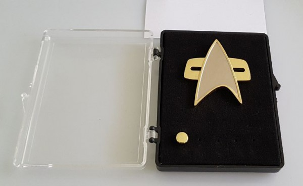 Communicator + Rankpin Set Ensign - Voyager 2 pieces - Star Trek