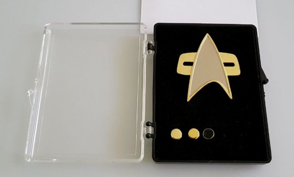 Communicator + Rankpin Set Lieutenant Commander - Voyager 4 pieces- Star Trek