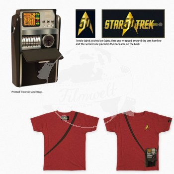 Star Trek 50 Anniversary Tricorder red Girl Shirt