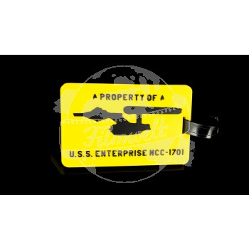 "Luggage Tag ""A Property of U.S.S. Enterprise NCC-1701"""