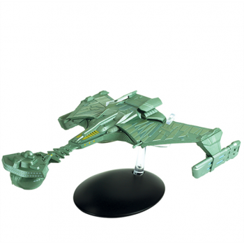 "Klingon Battle Cruiser (Movie ""Star Trek"") Large Eaglemoss Model 22 cm Star Trek starship with German magazine"