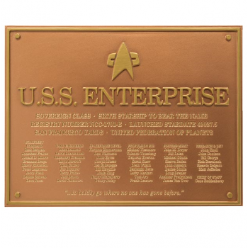 U.S.S. Enterprise NCC-1701-E - Star Trek Dedication Plaque