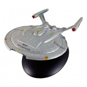 Enterprise NX-01 starship model with english magazin #4 Eaglemoss Star Trek