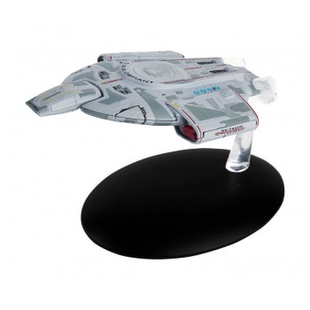 U.S.S. Defiant NX-74205 starship model with english magazin #9 Eaglemoss Star Trek