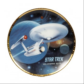 Decorative plate U.S.S. Enterprise NCC-1701
