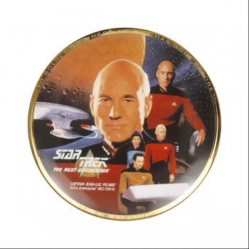 Decorative plate Captain Jean-Luc Picard