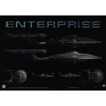 NX-01 Enterprise Mini-Poster Star Trek