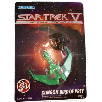 Klingon Bird-of-Prey Starship Diecast Model Star Trek - approx. 6 cm