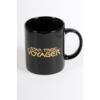 Voyager Logo Mug - gold plated Filmwelt Berlin Star Trek