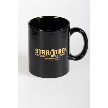 gold plated Mug Federation Science - Star Trek