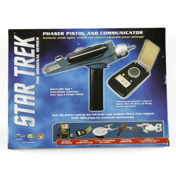 Star Trek Classic Communicator and Phaser with Golden Handle - Set
